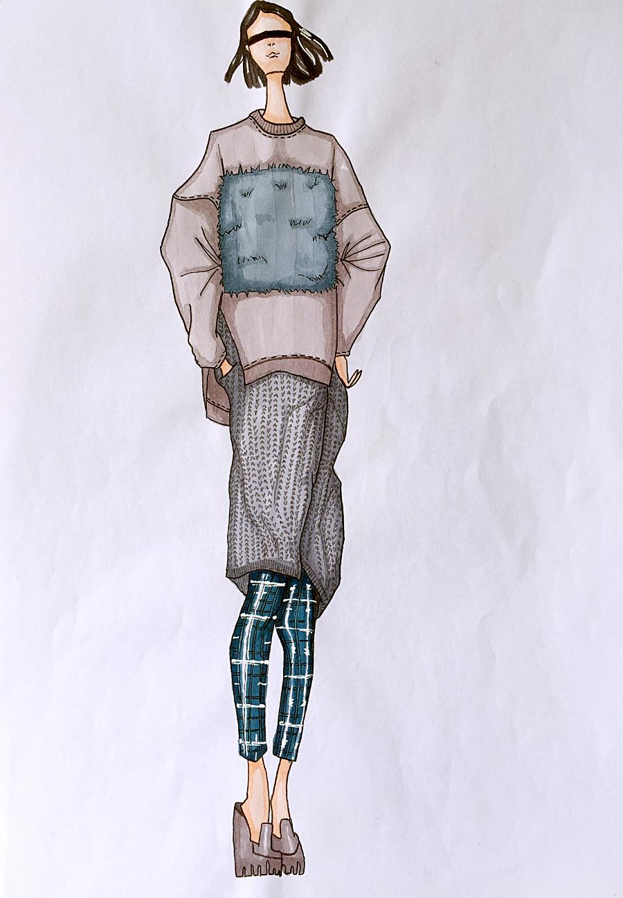 服装设计马克笔手绘练习