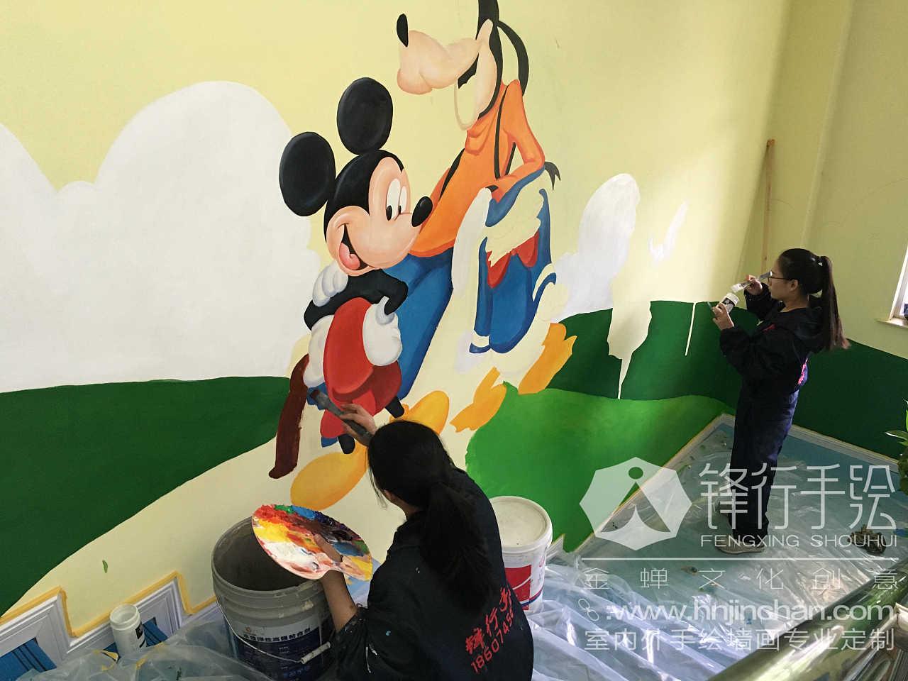 怀化幼儿园手绘墙画
