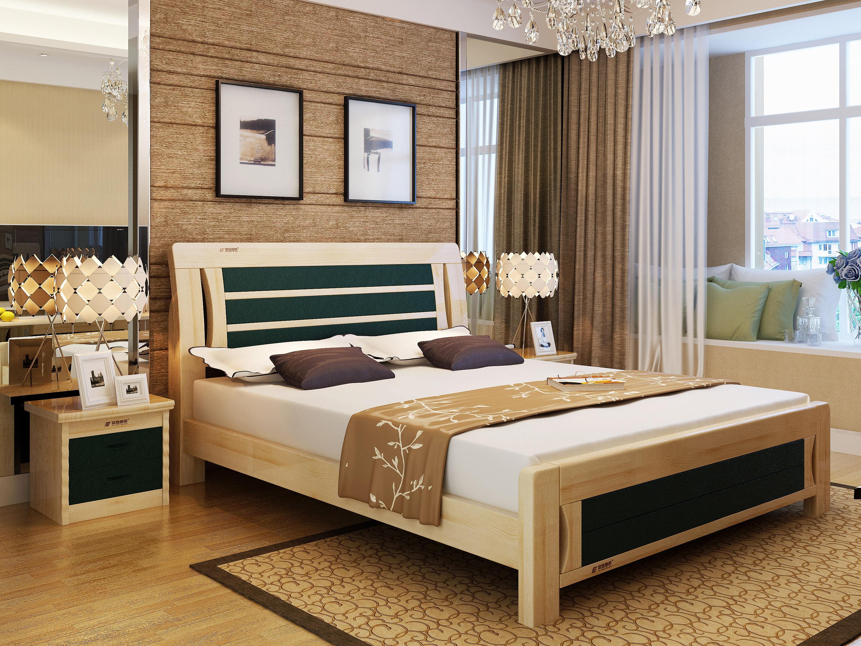 实木床系列,实木床效果图,实木家具3d效果图,淘宝家具