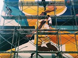 库里中国行-安德玛公益活动之民乐小学壁画