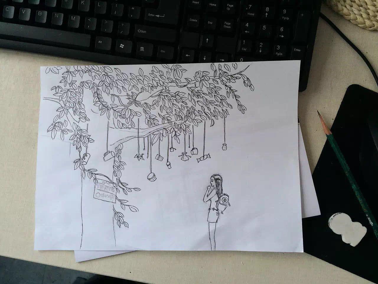 手绘中秋节海报