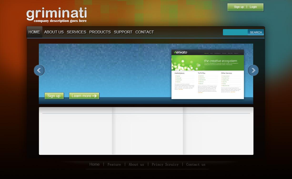ps网页效果图设计图片