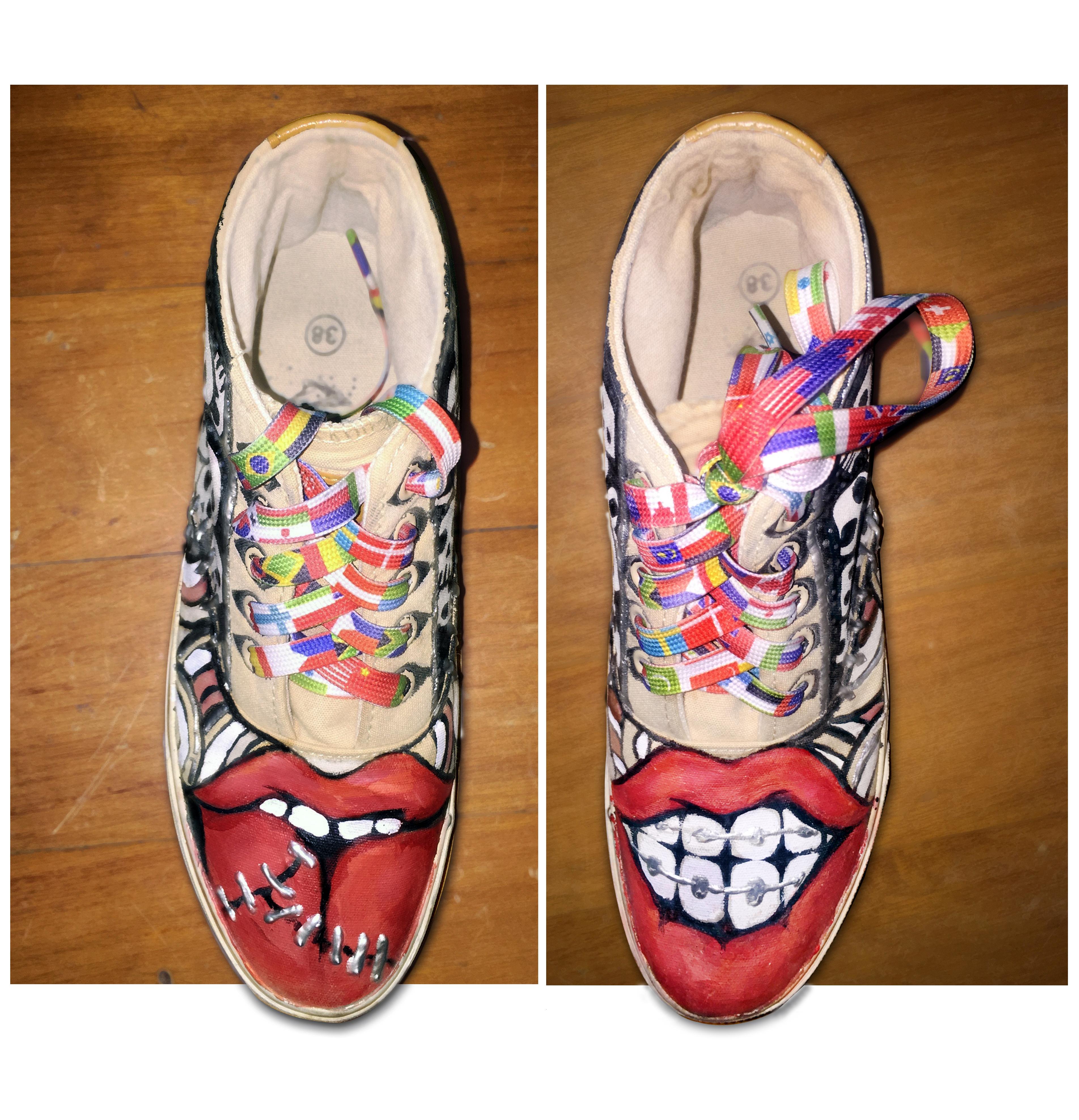 手绘板鞋.
