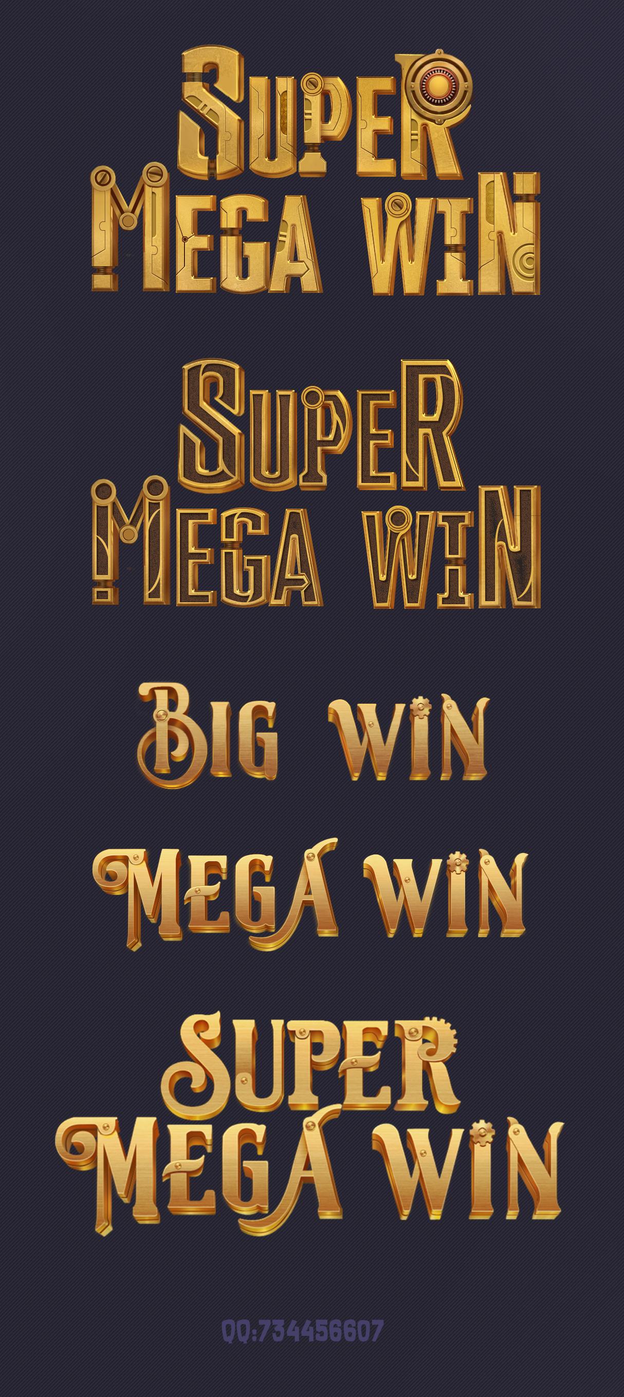 游戏ui字体v字体广告平面设计的工资图片