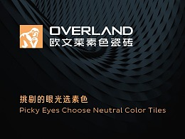 OVERLAND欧文莱素色瓷砖品牌LOGO/VI设计