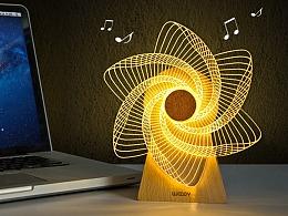 音乐风车灯