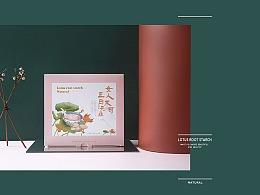藕粉插画包装设计