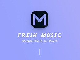 Fresh Music App Design