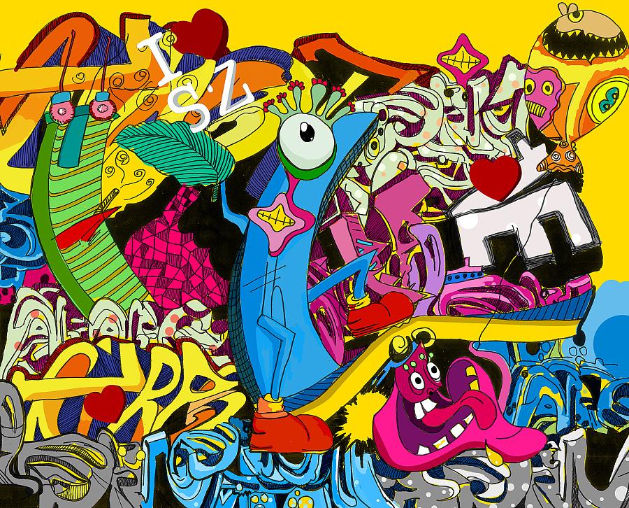 原创作品:手绘涂鸦