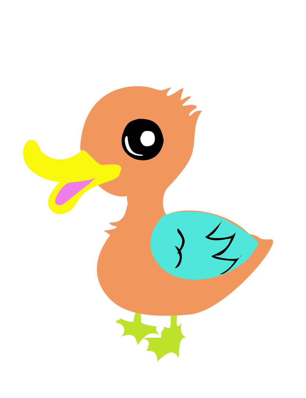 卡通鸭子图片