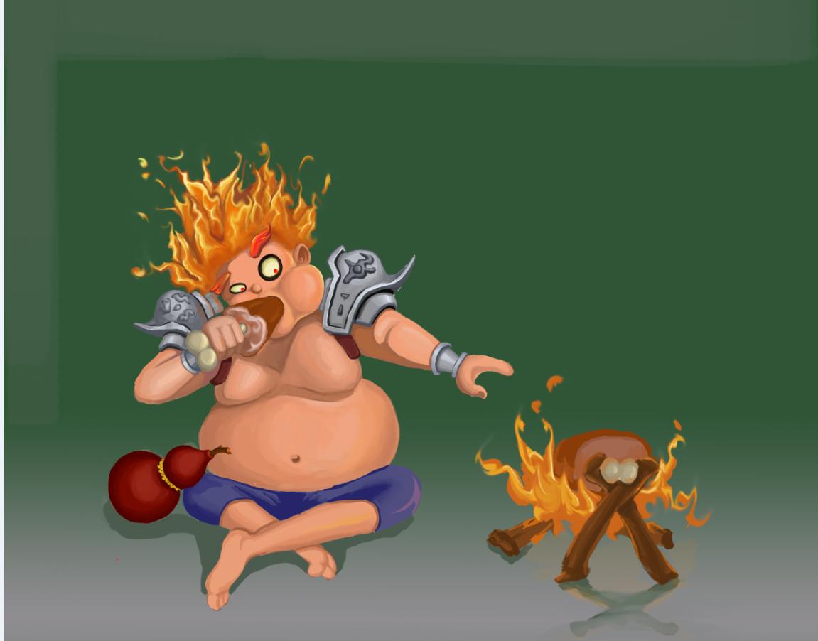 胖子热卡通图片