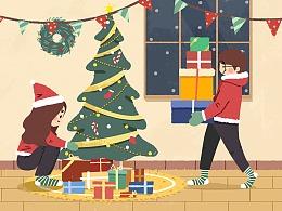 圣诞节快乐鸭