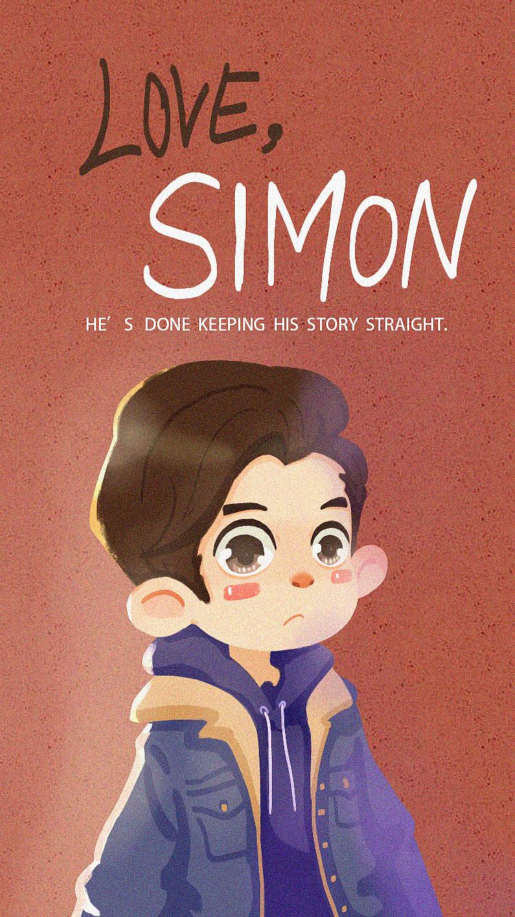 《爱你,西蒙》电影插画练习