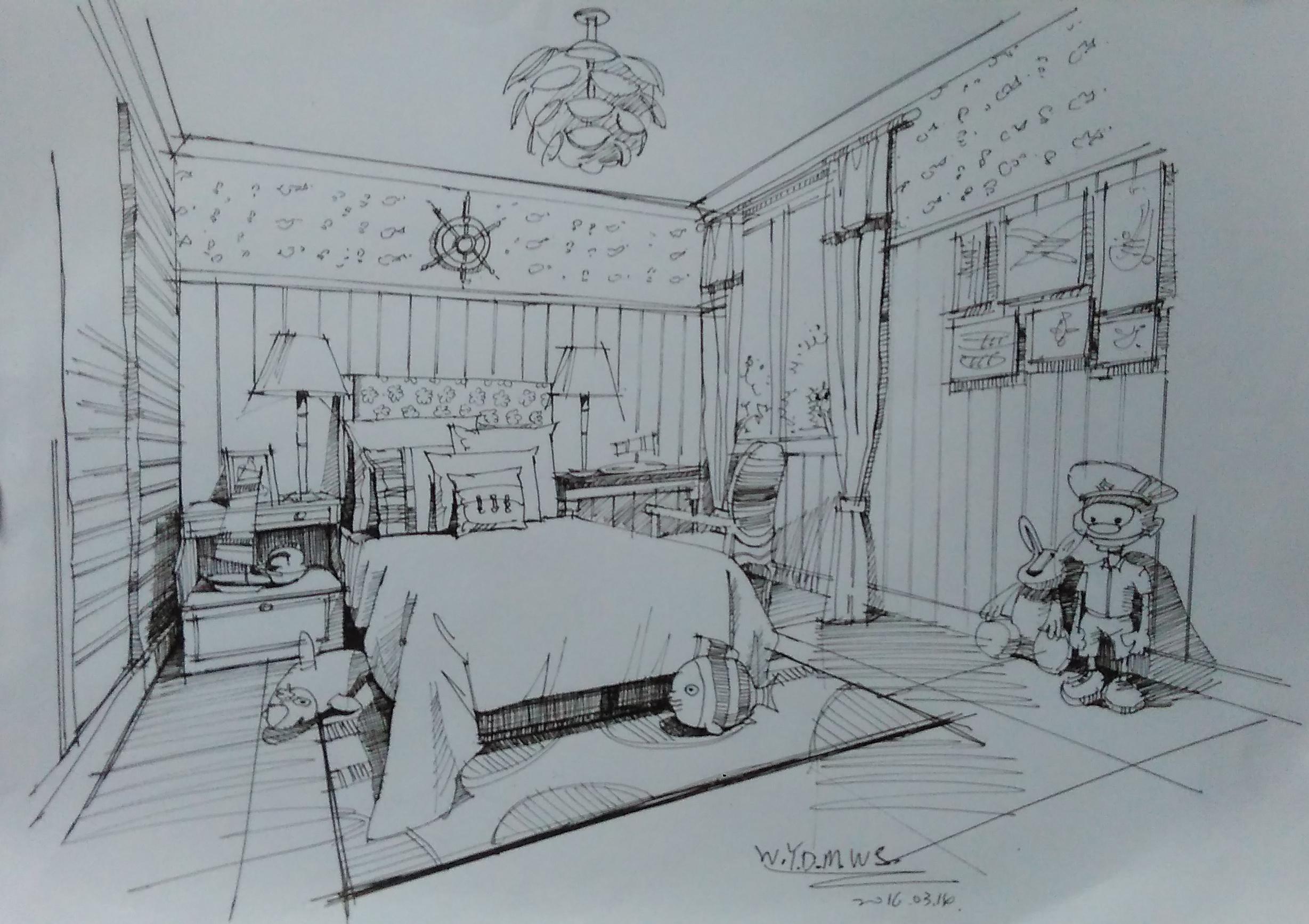 简笔画 手绘 素描 线稿 2457_1734