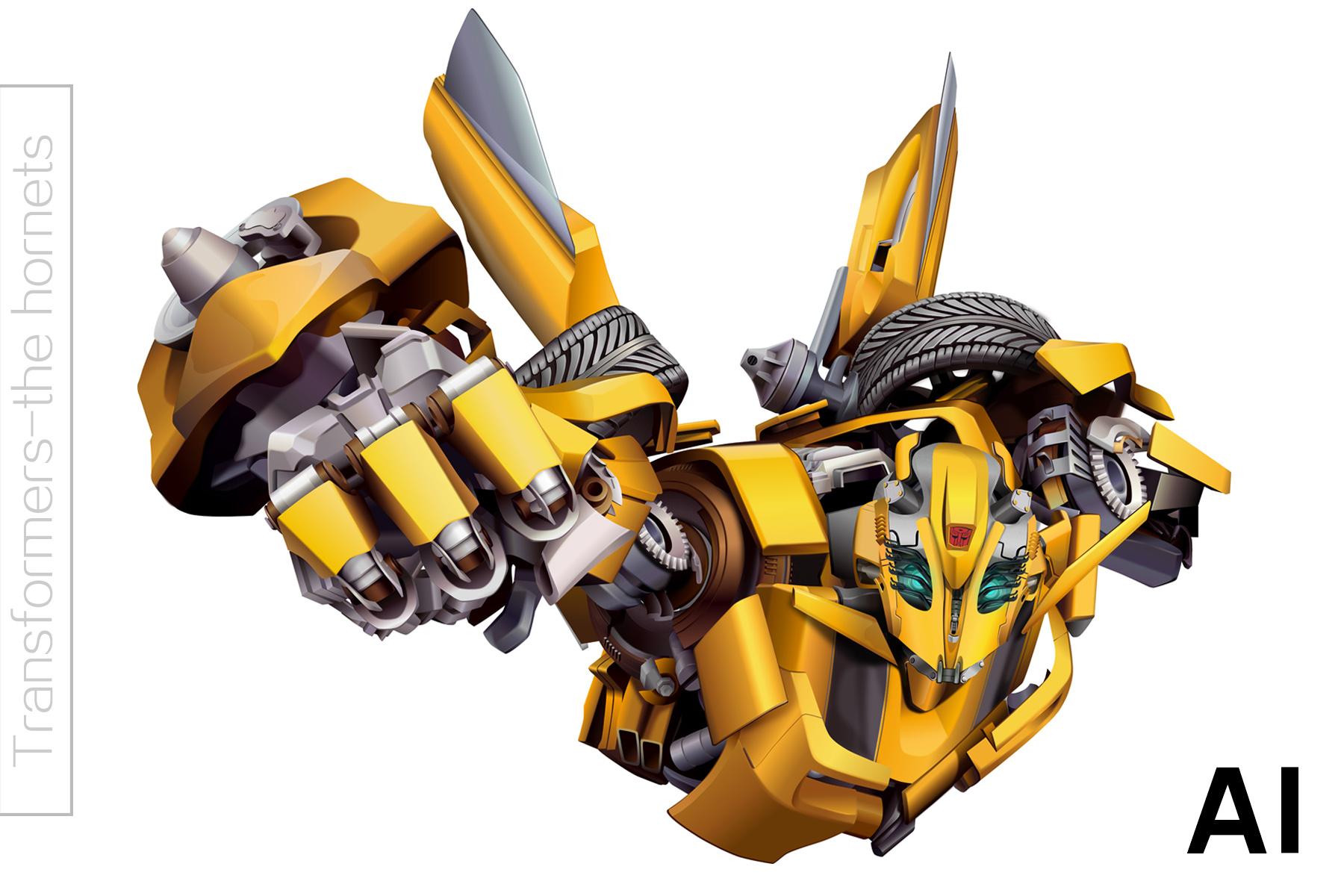 鼠绘写实作品 机器人大黄蜂