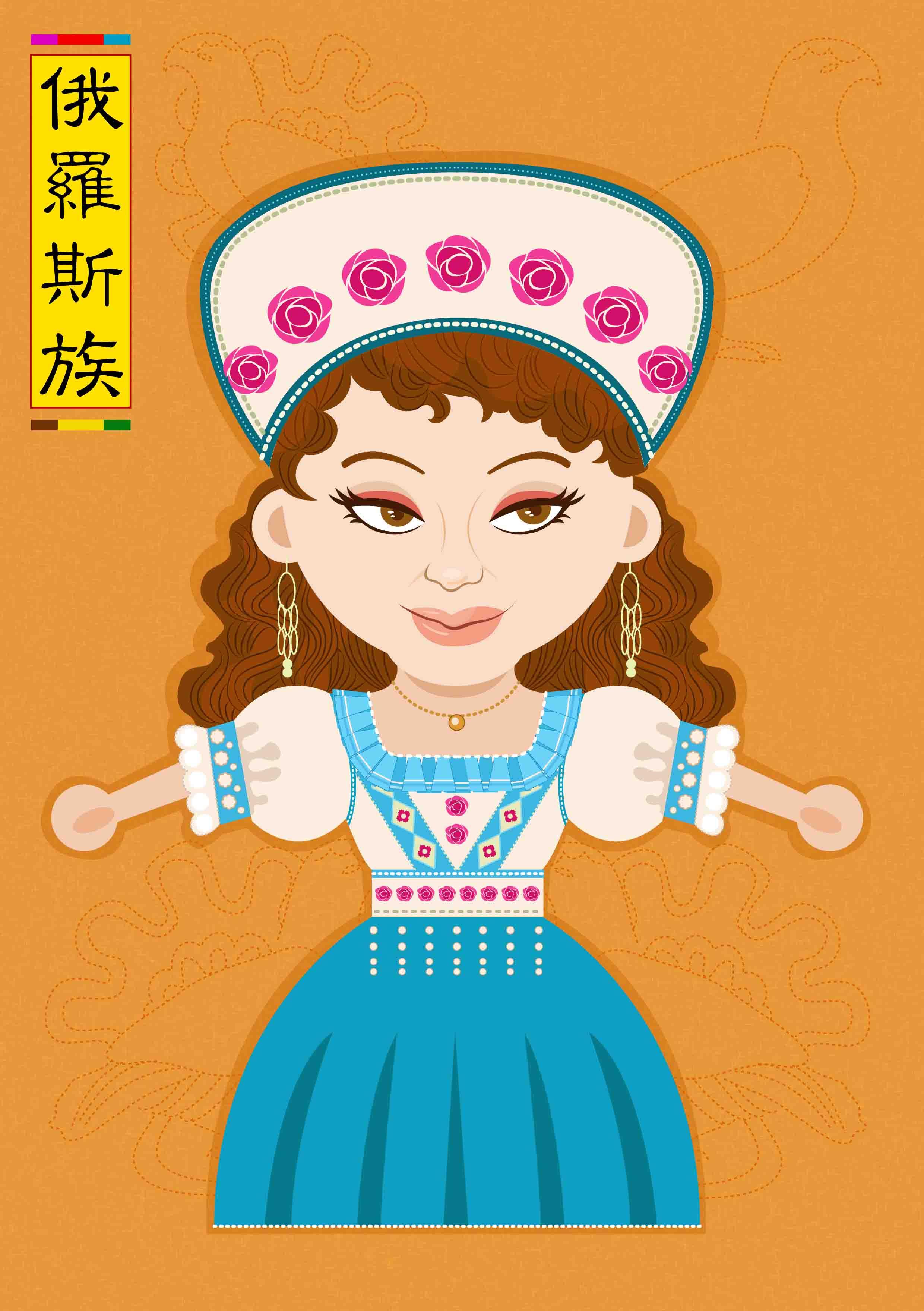 少数民族服饰推广 卡通人物形象设计