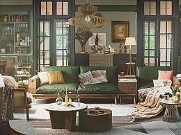 芒果季风《婆婆的镯子》场景气氛图设计