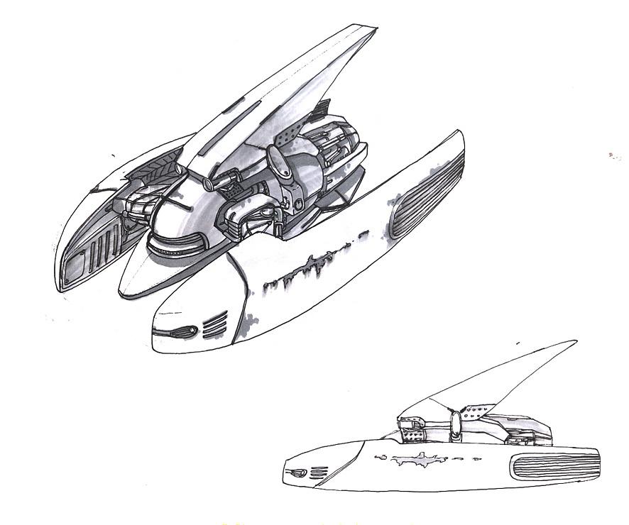 飞行器 设计手绘