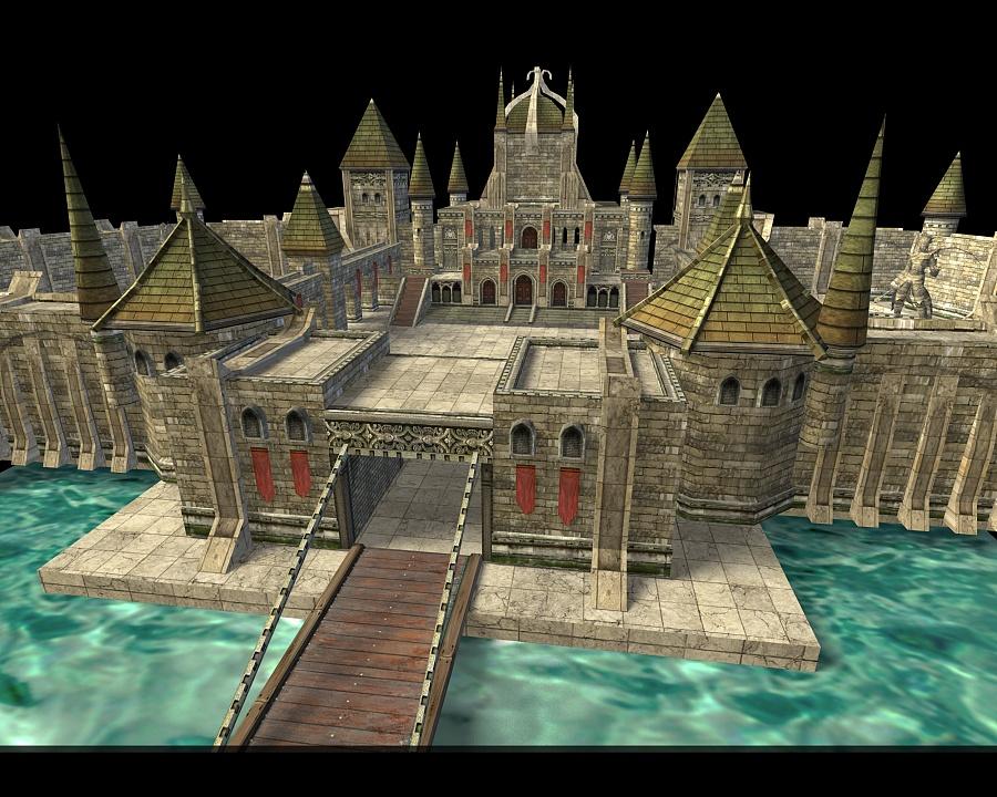 3D游戏场景建筑《古堡建模》|场景|三维|Aissa市政设计淄博图片