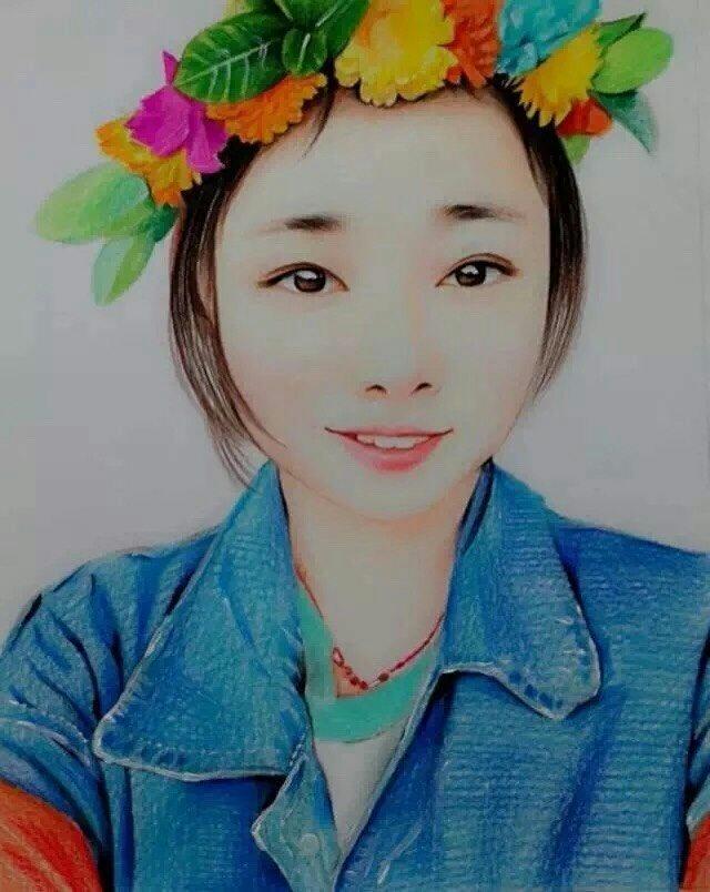 花仙子|彩铅|纯艺术|手绘联盟部落