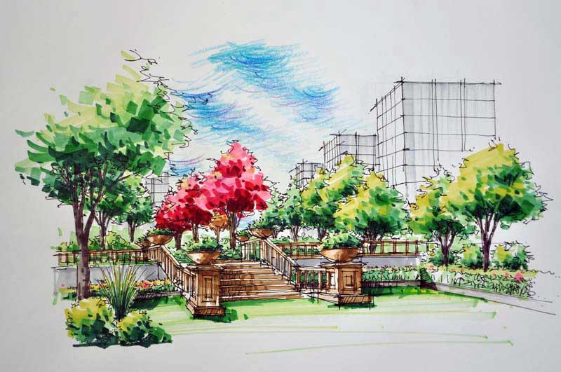 昆明云一建筑,景观,室内手绘设计效果图