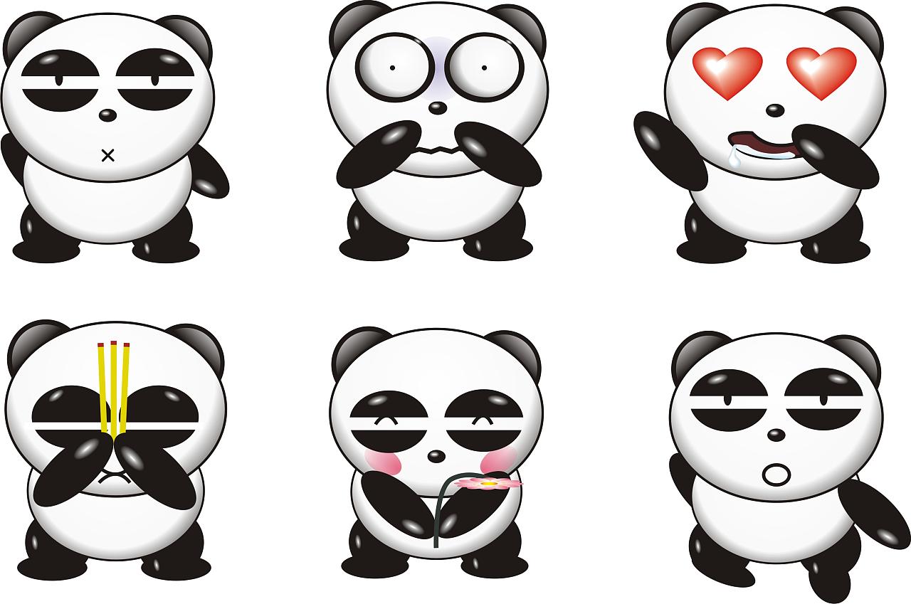 看到树上的小熊猫好可爱,就照着画下来了,还自创了几个表情图片