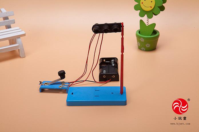 小玩童科技小制作 小学生科学实验玩具 手工diy材料 创意红绿灯