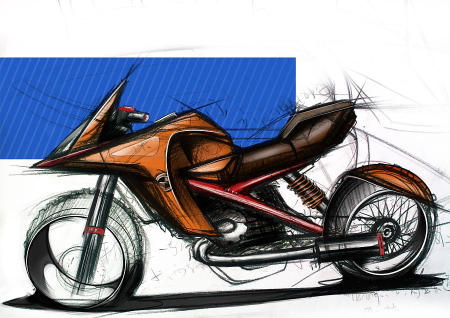 摩托车原创手绘|交通工具|工业/产品|idge - 原创设计