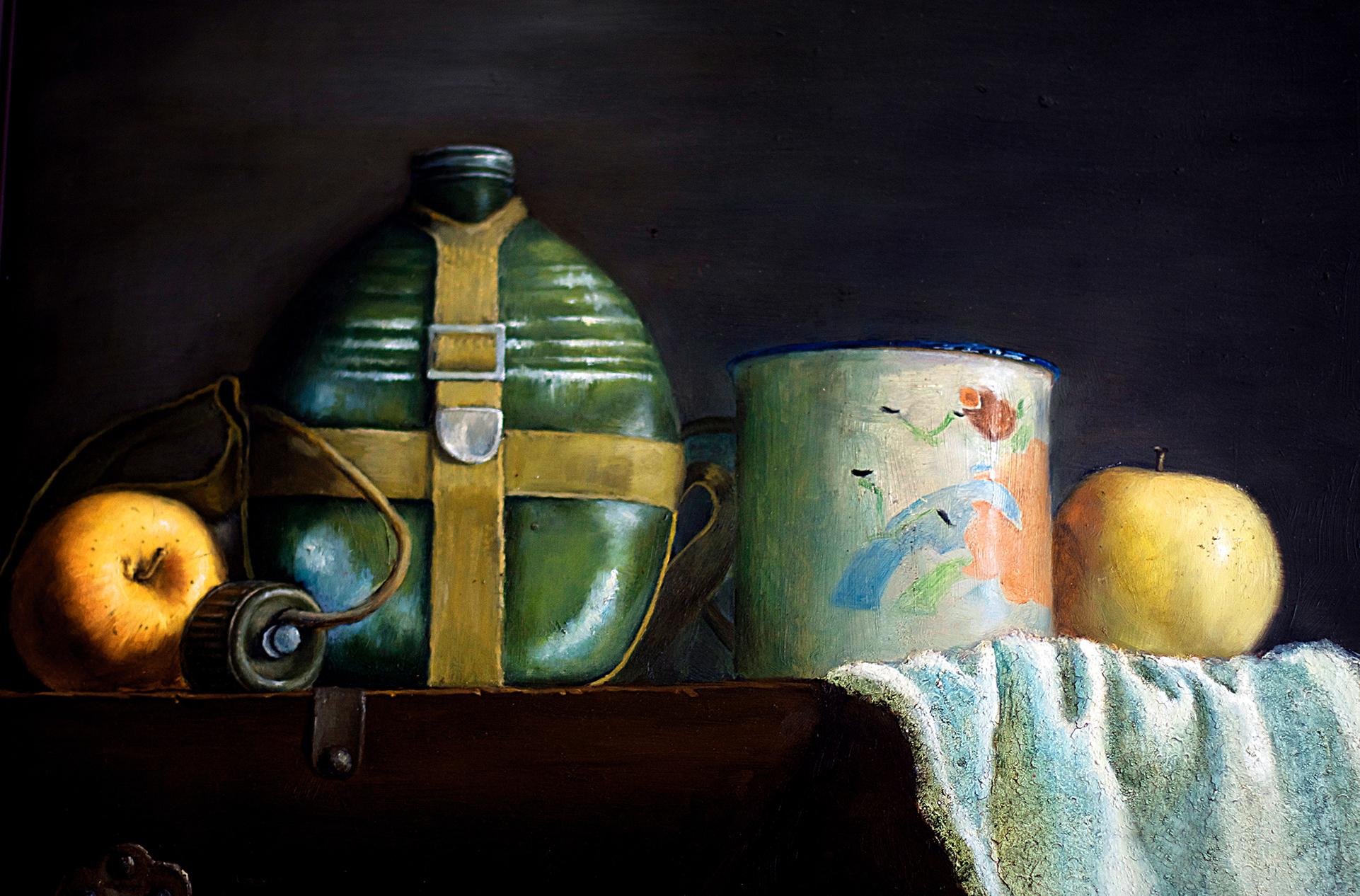 多年前的油画静物      图片