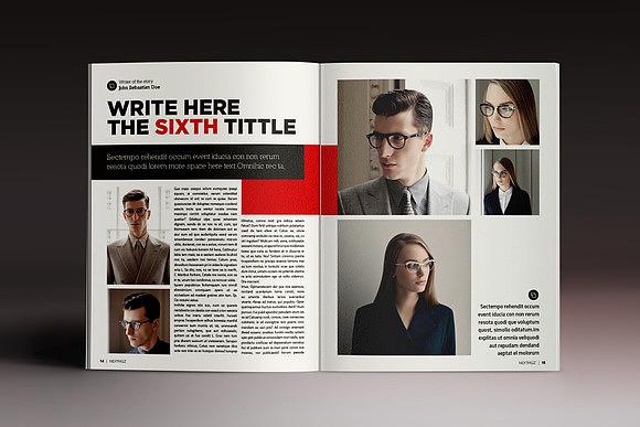 藝術攝影雜志畫冊indesign格式模板企業社會新聞雜志indd模板圖片
