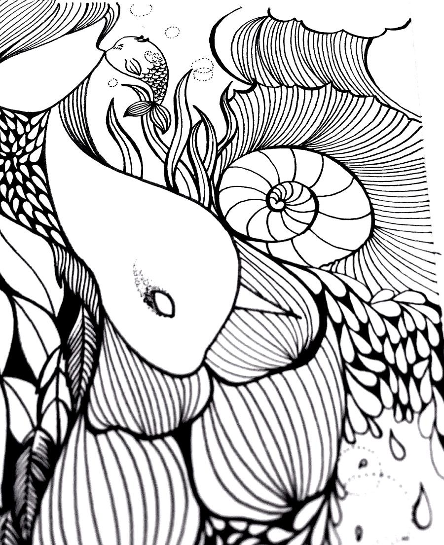 线描手绘作品