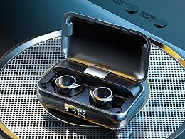 电商3C类目蓝牙耳机、手表、数据线渲染