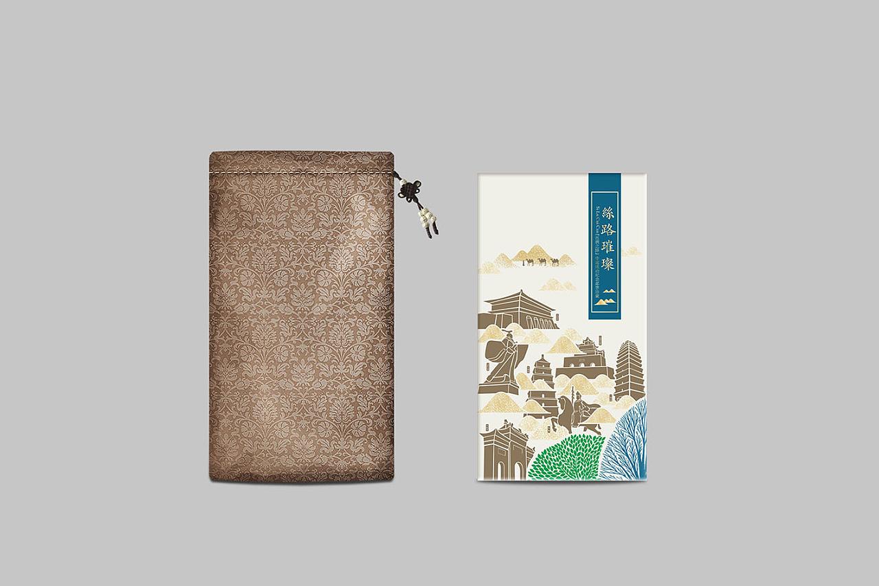 用图形化的元素体现,西安八个丝绸之路申遗图片
