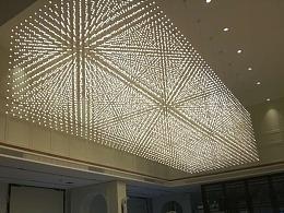 大型光立方中庭吊饰素材由铭星灯饰厂提供