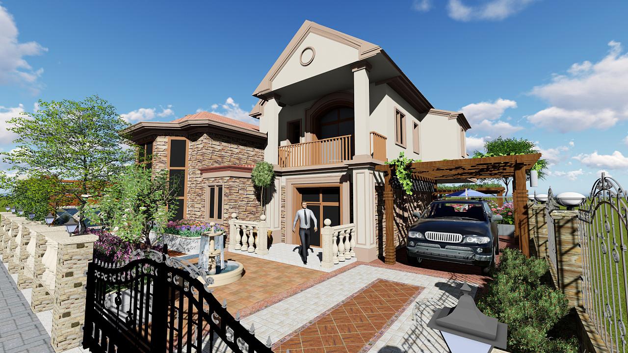 私人老板碧桂园别墅庭院景观设计