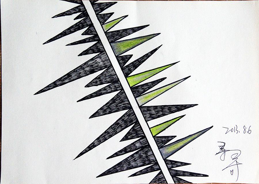 彩铅,手绘 水笔,水彩 原创图案 献给斯黛拉 人生苦短,须及时行乐