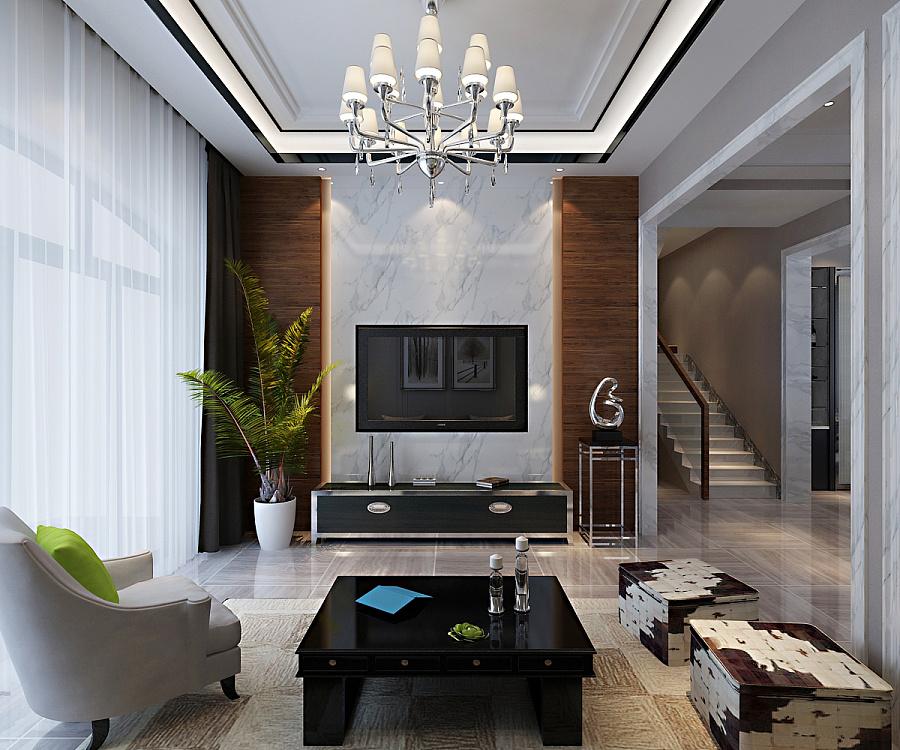 碧桂园240平别墅欧式装修设计效果展示图片