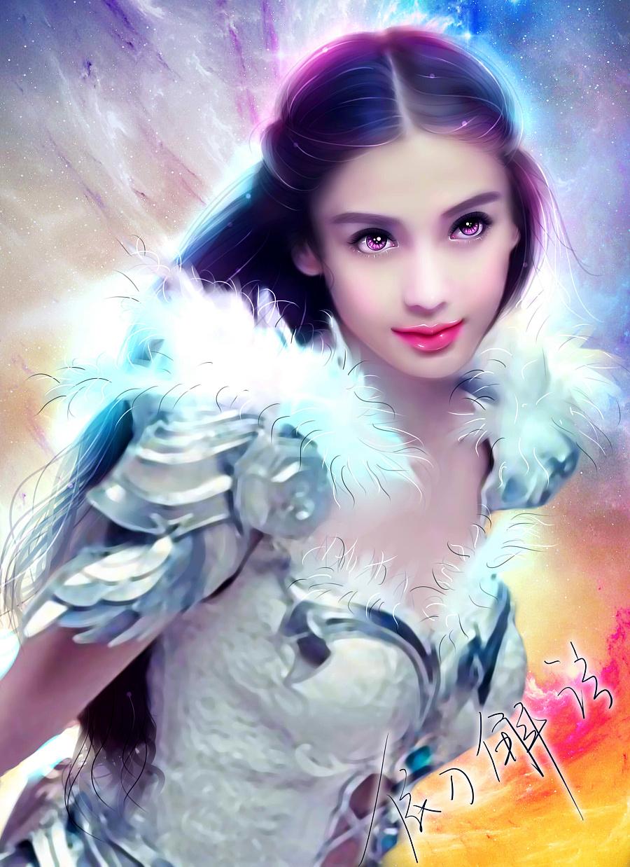 杨颖手绘彩铅明星