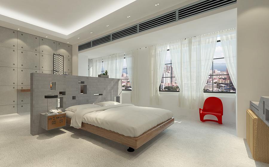 实例草图建筑的空间(大师)|室内设计|接口/渲染的部分客房v实例图片