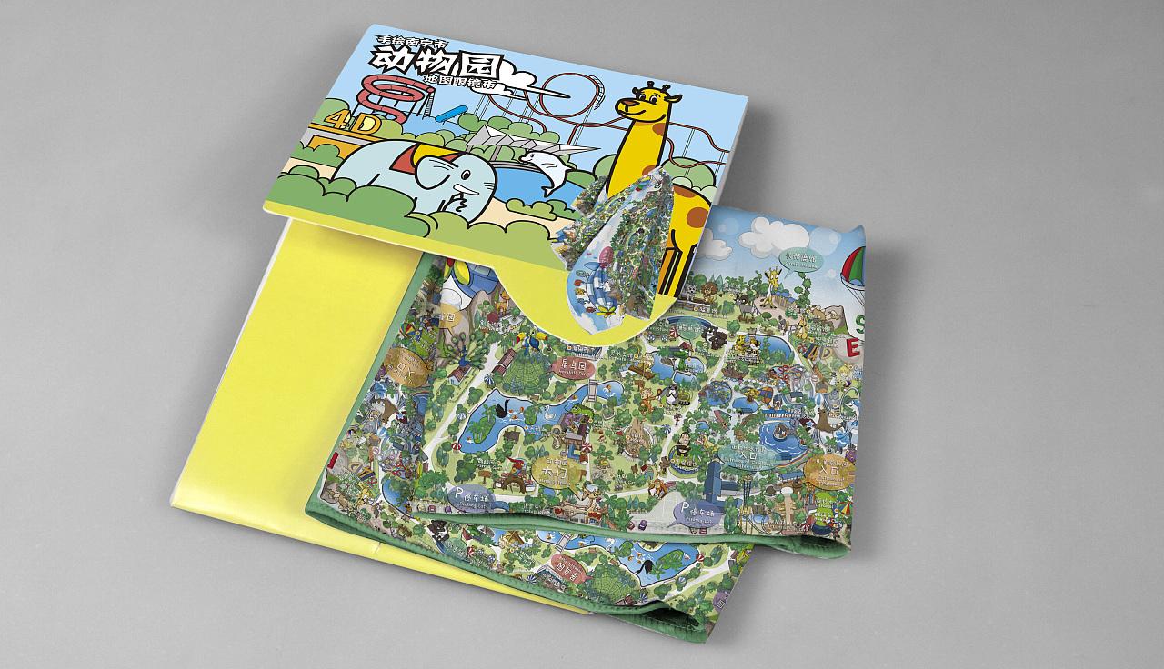 南宁动物园卡通手绘地图|动漫|绘本|林再素 - 原创