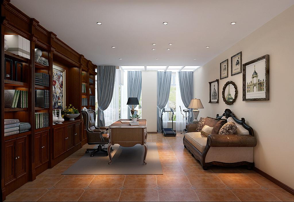 三门峡小房装修设计|别墅室内设计中的美式别墅间装修设计效果图6图片