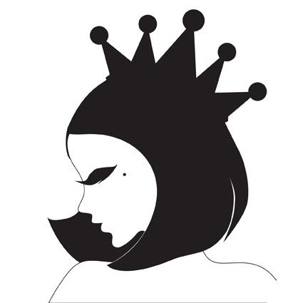 黑白女人侧脸logo