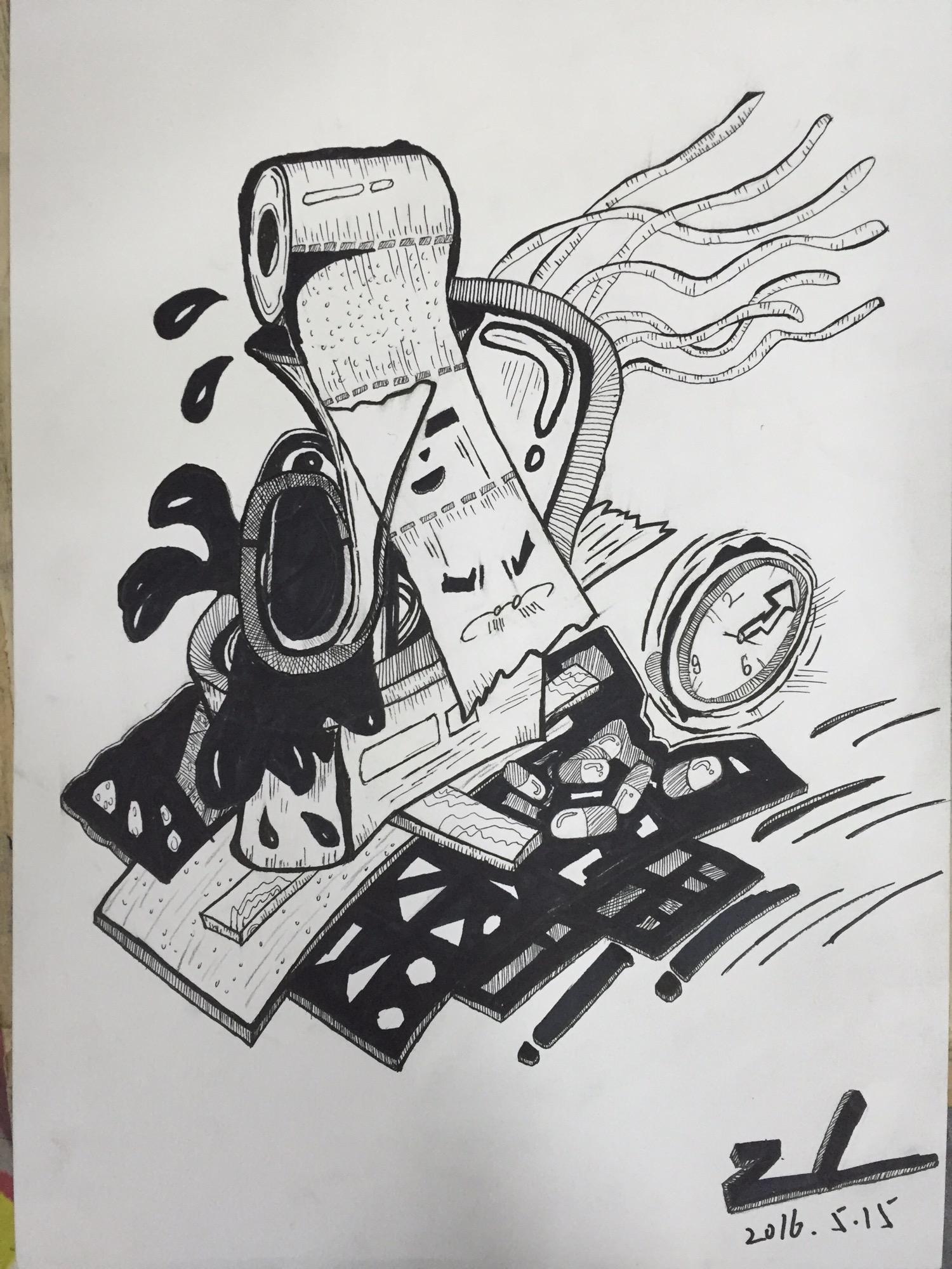 创意手绘|插画|插画习作|colin周 - 原创作品 - 站酷