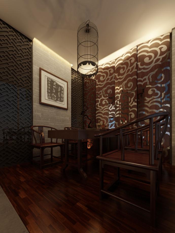 内江茶楼设计丨盛皇茗茶茶楼设计装修|室内设计|空