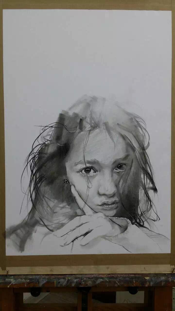 素描-忧伤的眼睛|素描|纯艺术|李建波3d立体画