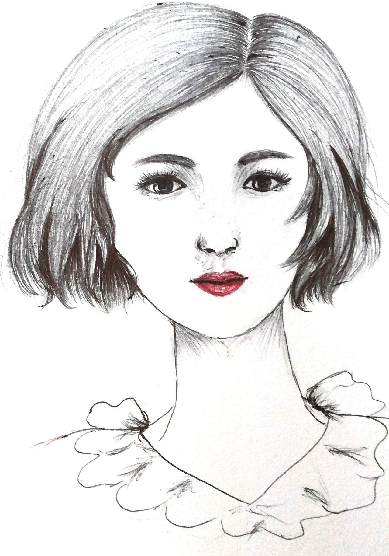 圆珠笔/针管笔手绘练习