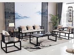 新中式沙发详情