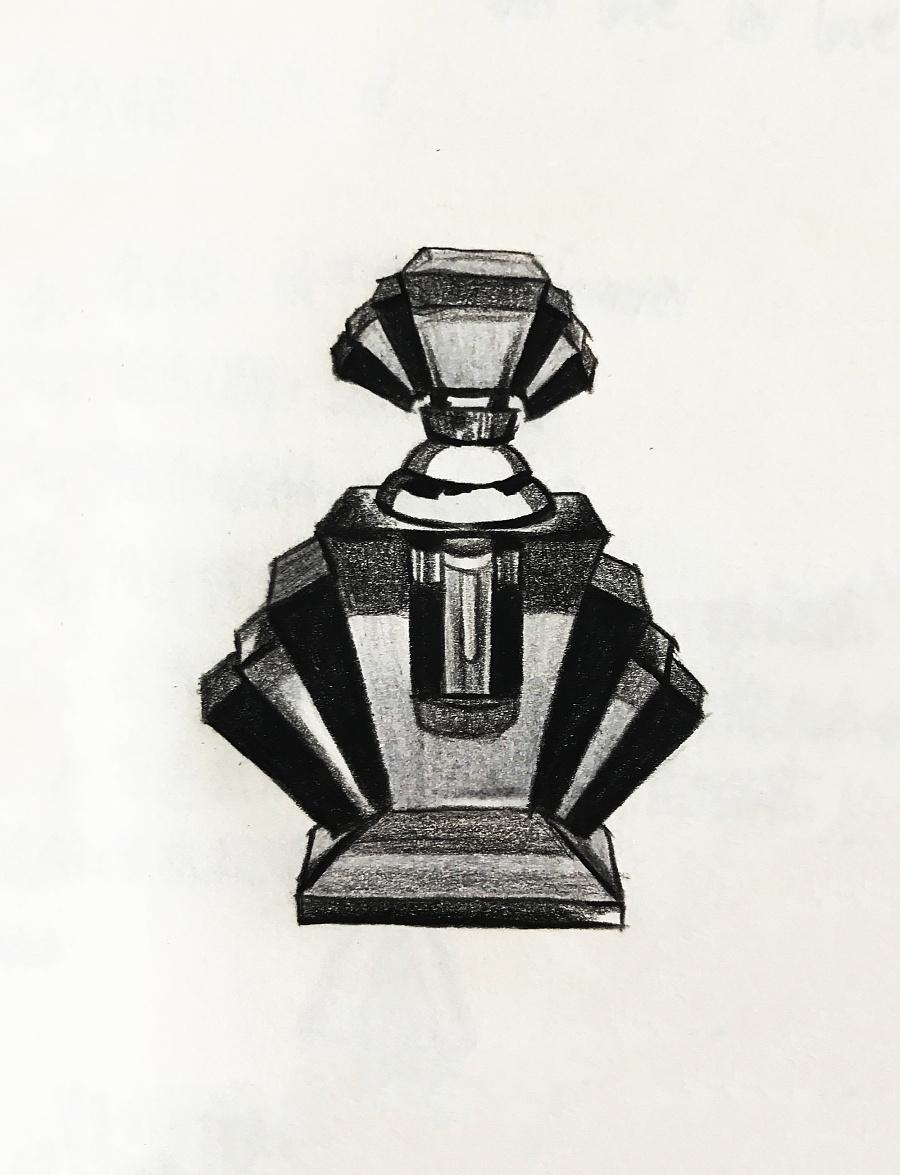 手绘香水瓶 彩铅 纯艺术 na2471901248 - 原创设计