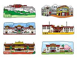 西藏风景画