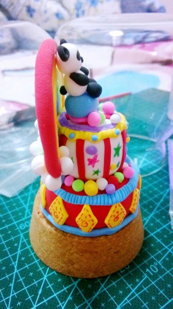 彩虹熊蛋糕图片